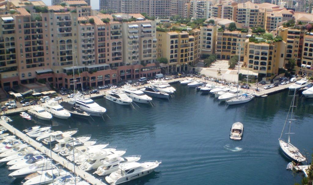 Район Монако-Вилль в Королевстве Monaco